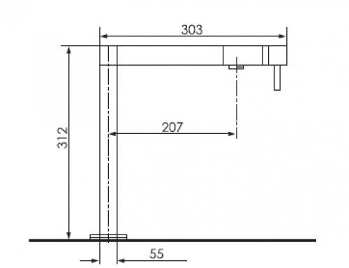 pablo 9716 drehbar einloch einhebelmischer. Black Bedroom Furniture Sets. Home Design Ideas